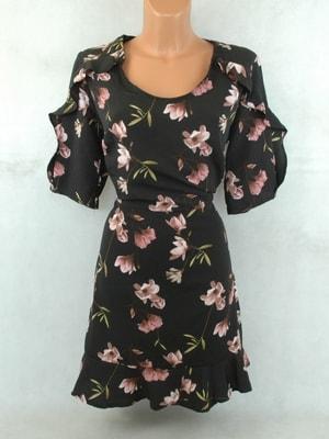 Sekacmix.cz - Černé květované šaty - Šaty - sukně - Dámské oděvy 70569685ce