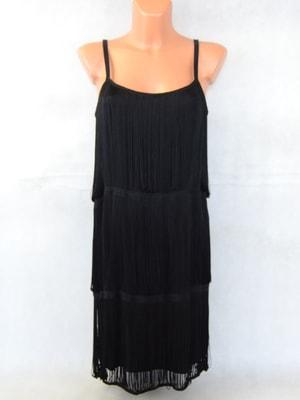 Sekacmix.cz - Černé šaty s třásněmi H M - H M - Šaty - sukně ... 3d207d805e